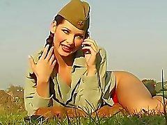 cammelli -toe primo piano mutandine esercito