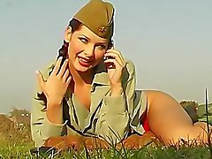 de camello -toe primer plano bragas ejército