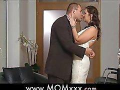 busty wife at a wedding