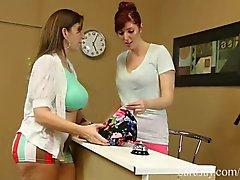 Horny Seamstress Licks Up Sara Jay