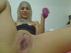 Slim teen with burka
