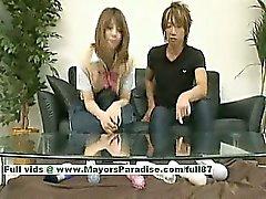 Risa Tsukino innocent chinese girl is a cute schoolgirl