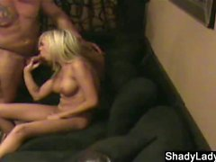 Blonde wife caught cheating with biker dude