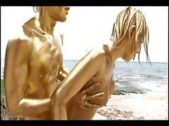 Japanese gold bodypaint sex