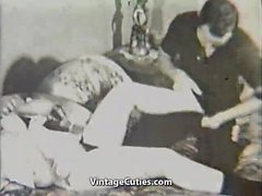 Lusty Couple Having Doggystyle Fuck in Bedroom (Vintage)