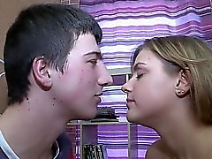 Lovely teenie double permeated