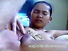 Tina Filipino Teen 18 Amateur Gets Hammered On The Desk Cute Tee