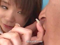 schoolmate having her clit masturbated