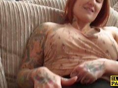Brit redhead fingerfucking herself