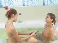 Hot bath and ultracute teenies