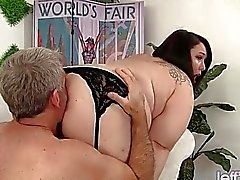 Cute and chubby plumper Alexxxis Allure fucking a
