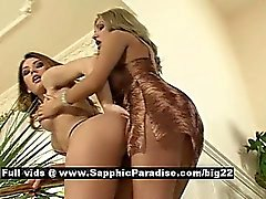 Ema and Bety from sapphic erotica lesbo girls undressing