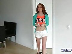 Pretty teen Natalie Lust warm creampie
