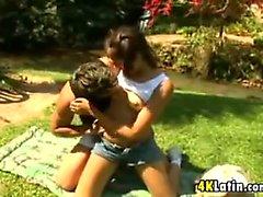 18 Year Old Latina Having Sex Outside