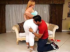bbw blond pipe graisse