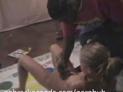 Interracial Naked Body Painting and Twister
