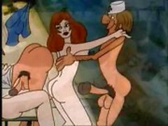 Cartoon classic of some perverted acts of athletic prowess