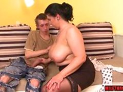 bbw big boobs brünett doggystyle hardcore