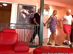 Horny Housewife Swings For First Time