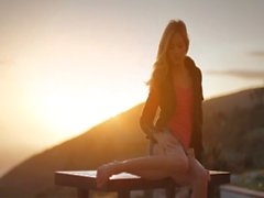 Sunset in Malibu in art pose movie