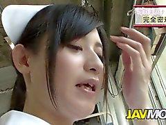 asiático boquete uniforme japonês enfermeira