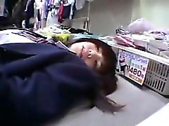 Cute Asian schoolgirl gets humped and tries out toys in an