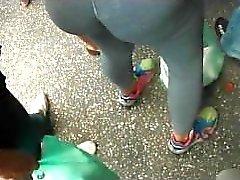 Public ass groping on street
