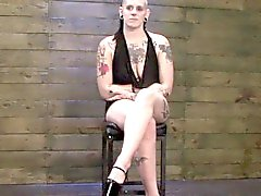 Femdom sub disciplined by strapon dominas