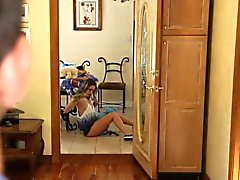 Teen babysitter takes rod