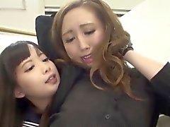 Asian lesbian teen licks