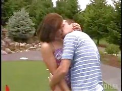 Housewife does some dirty golf course intercourse with her hubby