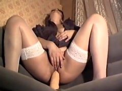 Teen amateur wearing stockings