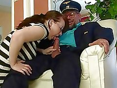 Grandpa fucking and pissing on nasty girl