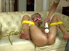 Blonde Babe Is Tied Up And Teased