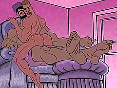 Gay cartoon - foot fetish
