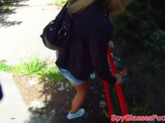 Eurobabe POV fucked and jizzed in mouth