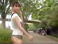 asiático engraçado masturbação ao ar livre adolescentes