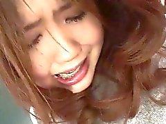 Asian Schoolgirl Fucked with a Dildo