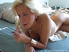Super sexy blonde MILF wishes you were fucking her juicy pussy