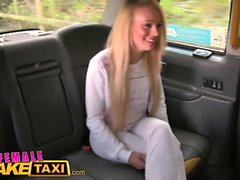 Female Fake Taxi Blonde Fitness babe loves big tits