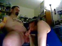 Biker dude fucks his biker chick hard