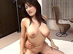 Sexy Asian bimbo gets fucked by two cocks