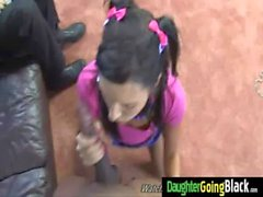 His Teen Daughter is Curious about a big black monster cock 4