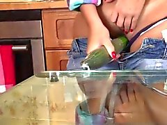Sexited Bombshell Plays In The Kitchen