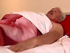 Download just young and cute girl boy takes old man Armed wi