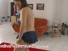 amateur tchèque étudiant strip-tease