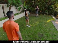 ExxxtraSmall - Cute Petite Teen Fucked By Two Huge Cocks
