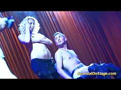 lapdance on public show stage feature