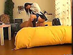 Sexy Schoolgirl Fucks Like A Pro In This Voyeur Video
