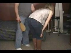 A sound Spanking in her Jeans and boots